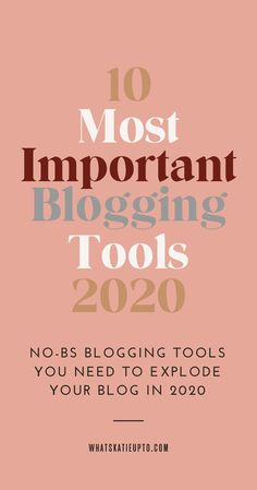 I have been blogging for over 10 years and in this post, I cover the 10 most important blogging tools for 2020. Do you want to start a Blog in 2020 but there are so many tools out there that you feel totally overwhelmed? Then let me help you. These are the tools and services I use myself on a daily or monthly basis to run my blogging business. This is an easy list for blogging beginners and includes some of my best blogging tips and secrets. Blogging Content, Blogging Hacks #bloggingtips…