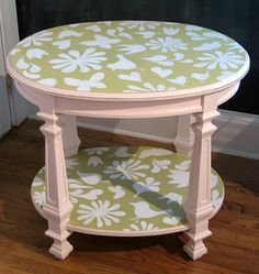 What I was thinking for coffee tables...only dif pattern n colors :)
