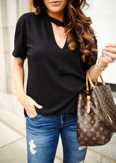 emily gemma, the sweetest thing blog, pinterest summer fashion, pinterest louis vuitton handbag outfit, louis vuitton montaign GM, black nordstrom socialite top, nordstrom AG jeans