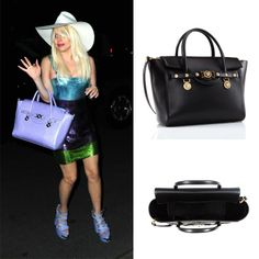 Lady Gaga is a shimmering beauty in a vintage Versace dress, SS14 fashion show shoes a Signature bag in lilac python. #VersaceLovesGaga