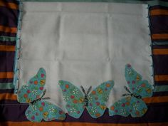 Pano de prato c/patch apliqué borboleta2