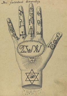 Hand from the Compendium rarissimum totius Artis Magicae..., Wellcome Library, London, ca. 1775