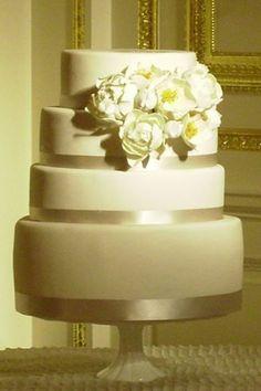 Five Fun Wedding Cake TrendsBlack   White Square Wedding Cake   Satin Ice   Cake Central  . Real Simple Wedding Cakes. Home Design Ideas