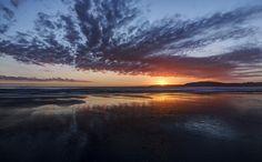 Sunrise on Omaha Beach, NZ.