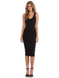 James Perse Skinny Tank Dress in Black | REVOLVE