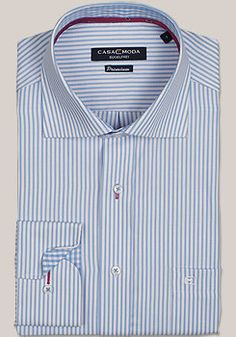 CASAMODA Premium Hemd Langarm Streifen Dessin hellblau 331689700/100