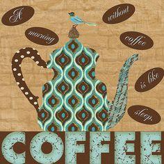 Morning Coffee Canvas Print / Canvas Art by Marilu Windvand