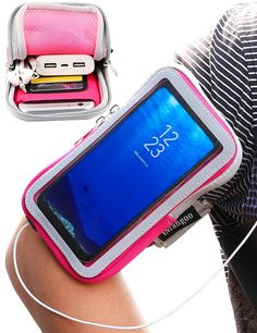 Armbands Women Men Practical Anti Slip Exercise Side Pocket Stretch Workout Phone Pouch Gym Armband Elastic Fitness Holder Sports Running