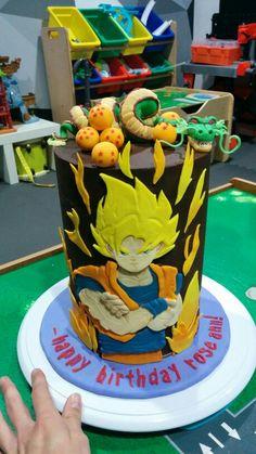 Dragon ball z cake #dragonballzcake #goku #shenron #dragonballs #dragonballcake