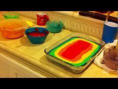 Como hacer pastel arcoiris