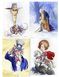 Roman Genn - Roman Genn National Review Caricaturist Artwork