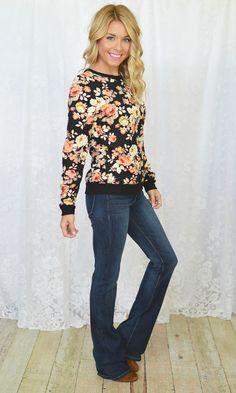 Jamie Lee - Quilted Floral Top | Black, $36.00 (http://www.jamieleeboutique.com/quilted-floral-top-black/)