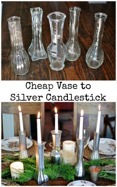 Free Vase Fall Tablescape: An easy DIY transformation for your Fall Thanksgiving table or other decorations! www.huntandhost.com