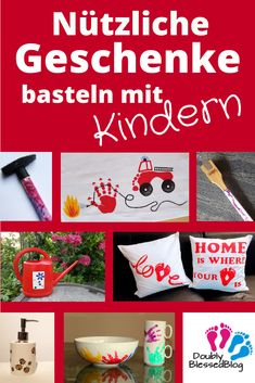 Weihnachten: Nützliche Geschenke basteln mit Kindern Useful gifts that can be easily made with toddlers or larger children. Perfect for men and women Diy Gifts For Christmas, Diy Gifts For Mom, Easy Diy Gifts, Christmas Makes, Creative Gifts, Diy Home Decor Projects, Diy Projects To Try, Diy For Kids, Crafts For Kids