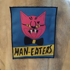 MANEATERS PATCH  biker b-movie girl gang by boredfactory on Etsy