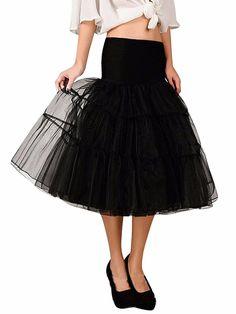 17cc0061540e7 Women Fashion Vintage Style Tutu Mesh Tulle Mermaid Midi Skirt Wedding Dress  HFON