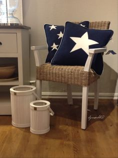 Beecham Arm Dining Chair from RIVIERA MAISON with pillows from Gant Home, at LENE INTERIØR