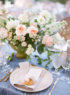 Soft Pastel Summer Blooms  Design: White Event Studio Celsia Floral & Blush Wedding Photography