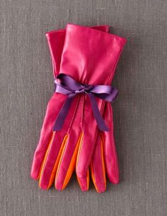 pretty leather gloves