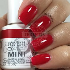 nails.quenalbertini: Gelish 'Hot Rod Red' is a classic hot red and one of the brighter reds available