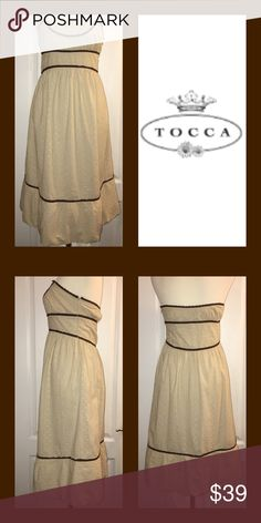 TOCCA Sundress Fully lined, side zip.  Well designed Dress from TOCCA. Tocca Dresses Strapless