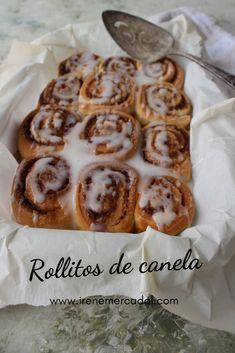 Estos rollos de canela son deliciosos y muy fáciles de hacer, para ver la receta entra aquí. #recetasdecocina #recetasdulces #recetasdepostres Cinammon Rolls, French Toast, Bakery, Recipies, Food And Drink, Bread, Snacks, Dinner, Cooking