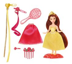 Long hair finally gets the royal treatment.  Girls will love styling the hair of their favorite Disney Princesses.  Small size doll with long, flowing hair just waiting to be styled.  Features wear-an