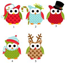Owl Christmas Card Note Cards Notecards by PaperHouseDesigns