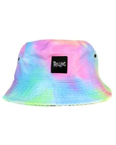 Pastel tie dye bucket hat at shopjeen.com !