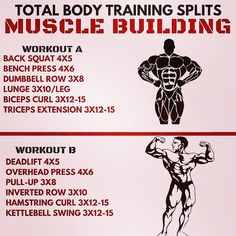"""667 Likes, 28 Comments - Eric Bach Online Coach (@bachperformance) on Instagram: """"TOTAL BODY TRAINING SPLITS by @Bachperformance - Here are two different muscle building workouts…"""""""