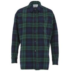 Essentiel Antwerp Women's Flannel Lace Shirt ($210) ❤ liked on Polyvore featuring tops, green, green top, shirts & tops, green plaid shirt, plaid shirt and collared shirt