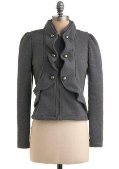 Grey jacket/ imagine the possibilities.