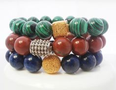 Selection of Three Empowerment Bracelets by KartiniStudio on Etsy