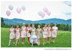 light pink bridesmaids dresses - by Kingdom Wedding Photography