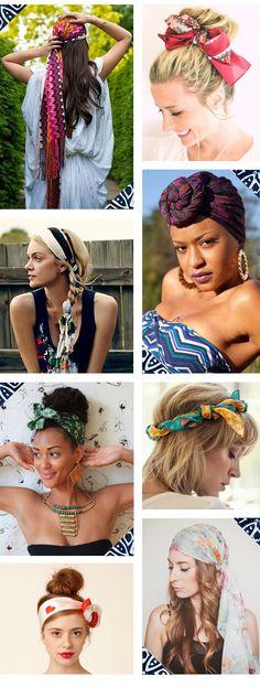 Para usar - Lenços na cabeça #headwrap #scarf