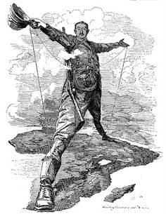 """Cecil Rhodes whose British South Africa Company (BSAC) (1889-1965) helped conquer a commanding swath of the African continent in the name of the British Empire. His megalomania was """"honored"""" by the British later naming an entire nation after him, """"Rhodesia,"""" now modern-day Zimbabwe."""