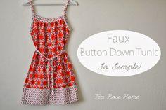 FREE Faux Button Down Tunic Tutorial