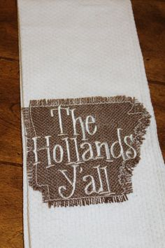 This Personalized Kitchen Towel Is Perfect For A Southern Lady They Would Make The Wedding Or Housewarming Gift Can Be To Fit