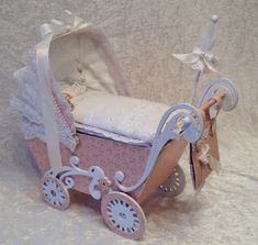 Peon Design Sweet Baby mini album in a stroller - Stroller tutorial and measurements for the album