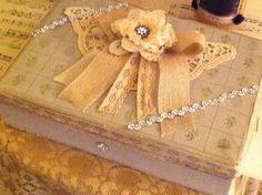 A vintage jewelry box.