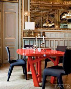 Mesas de comedor de colores · Colorful dining tables