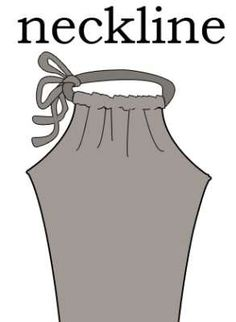 how to sew a drawstring halter dress