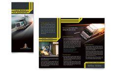 Trucking & Transport - Tri Fold Brochure Template