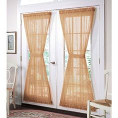 Brylanehome Scenario® Sheer Voile Door Panel by BrylaneHome. $7.99. 60-inchx63-inch. casual-style. polyester. modern-design-style. solid. Our Scenario® Sheet Voile Door Panel brings beauty to the biggest window in your home- your glass doors. With a simple rod-pocket design and 9 sheer colors, these curtains add an elegant touch of color. By using the included tiebacks, you can simply adjust the amount of light you want to let in versus how much privacy you prefer. And for mor...