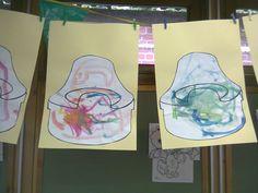 Thema 'Zelfredzaamheid': potje beschilderen met waterverf