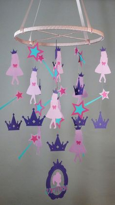 Princess Mobile in Purple Pink and Blue with by whimsicalaccents