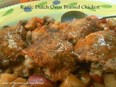 Rustic Dutch Oven Braised Chicken