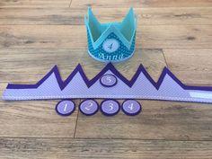 Weiteres - Geburtstagskrone (mit Namen u. Wechselbutton) - ein Designerstück von majuba-Judit bei DaWanda