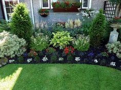 cool 130 Simple, Fresh and Beautiful Front Yard Landscaping Ideas https://wartaku.net/2017/04/14/simple-fresh-beautiful-front-yard-landscaping-ideas/