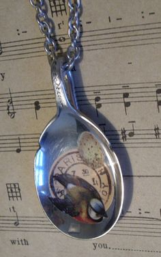 Vintage spoon with collage = pendant! glass, bezels, frames, chains www.eCrafty.com http://www.ecrafty.com/c-81-craft-supplies.aspx